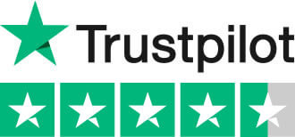 We're rated on Trustpilot